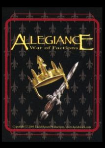 Allegiance: War of Factions CCG